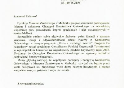 certyfikat_2003_malbork